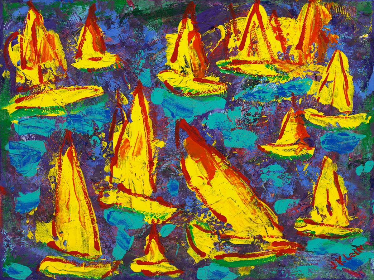 Sailboat Race, 18x24, $2,800