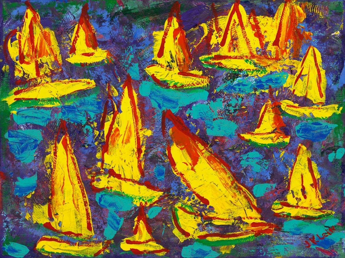 Sailboat Race, 18x24, $2,800